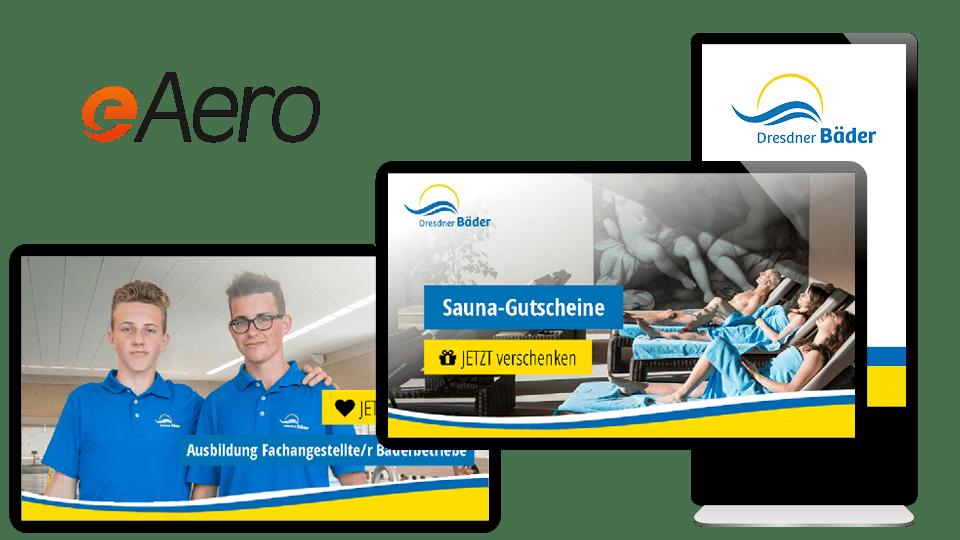 Referenz 1 morbitzer media eAero Digital Signage Dresdner Bäder
