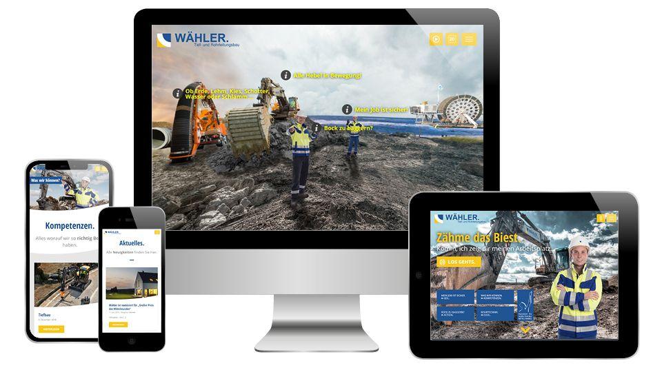 Referenz morbitzer media Wähler-Webseite UX-Design 1